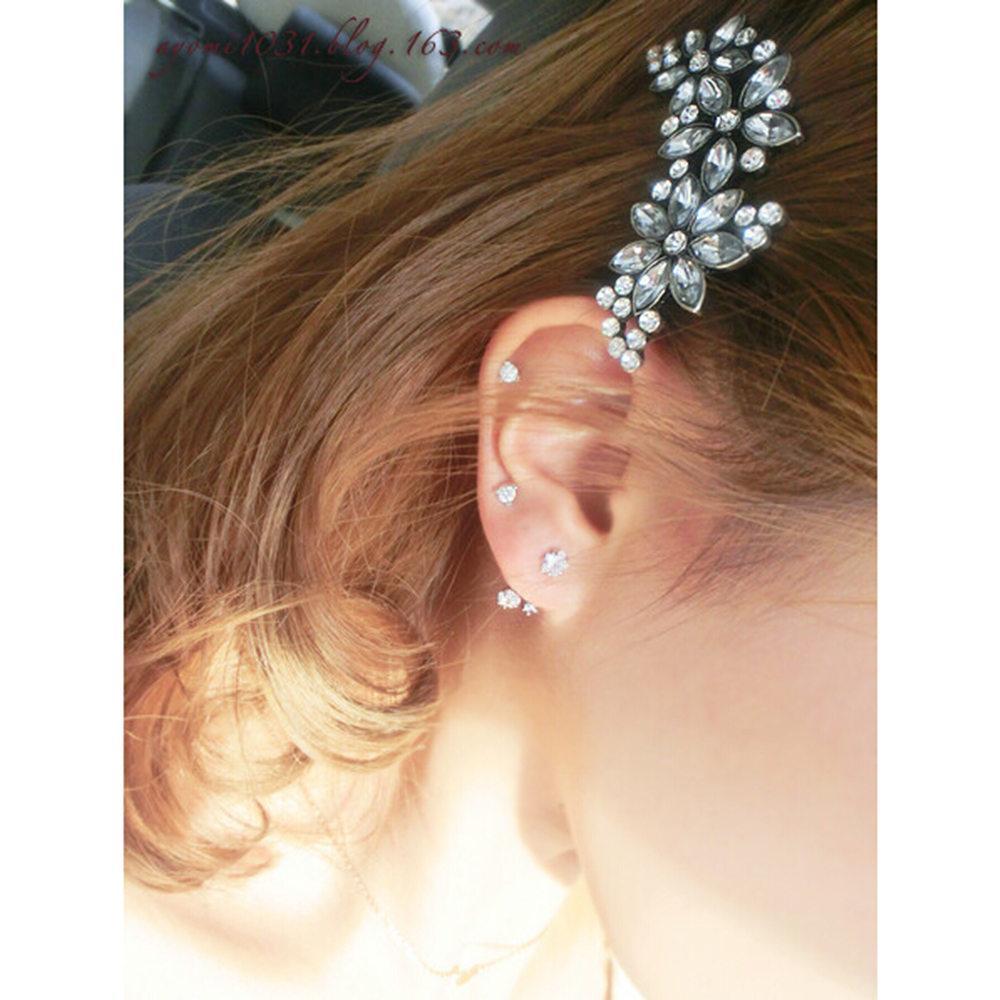 New Arrival Women Wedding Crystal Rhinestone Flower Headband Hairpins Hair Clip Hot Cheap