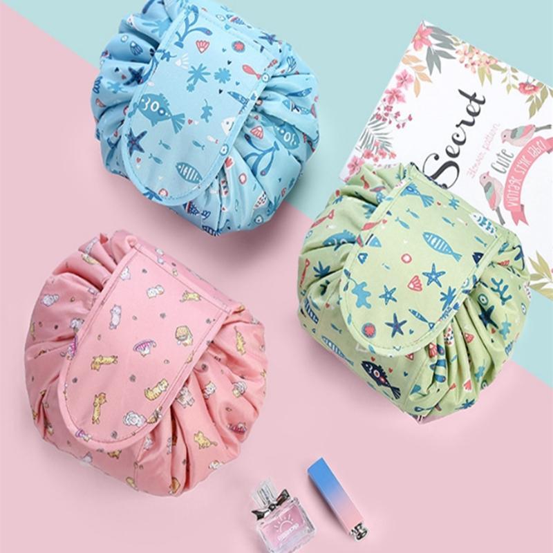 Viagem cordão cosméticos saco saco de armazenamento portátil de lavagem de dobramento grande capacidade cordão magia saco de cosméticos Beauty Tool Box FJJ274