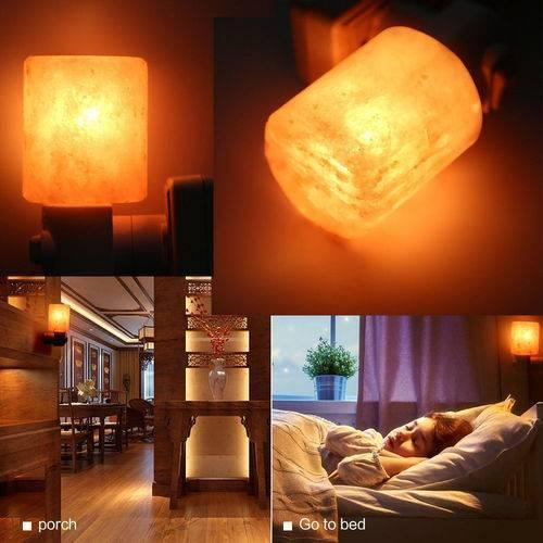 Night Lights mur Lampes exquis Cylindre naturel sel gemme Led lampe de sel Purificateur d'air Led Night Lights