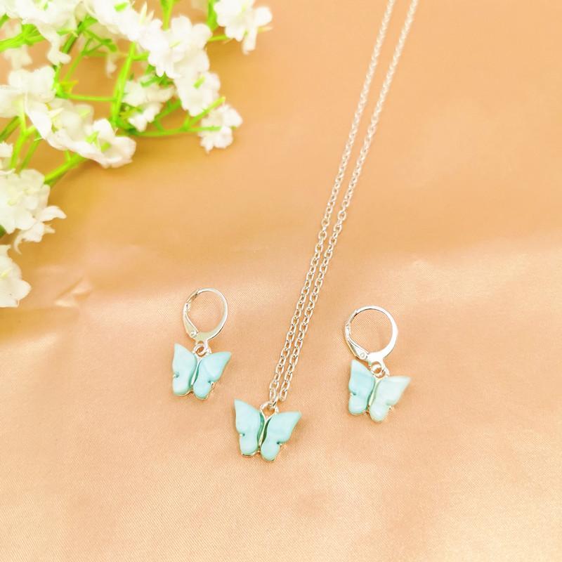 2020 Collana Bohmia farfalla sveglia per le donne semplice Oro Argento di colore della clavicola Chian Statement Necklace Fashion Jewelry