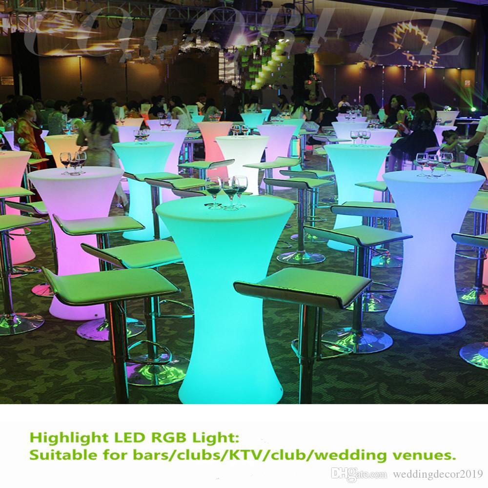 Recargable LED mesa de centro luminoso IP resistente al agua 54 se iluminó barra de mesa kTV de artículos para fiestas discoteca