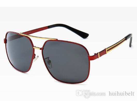 2019 yeni erkek moda güneş gözlükleri 10016 Joker büyük bir kutu evrensel sunglasses