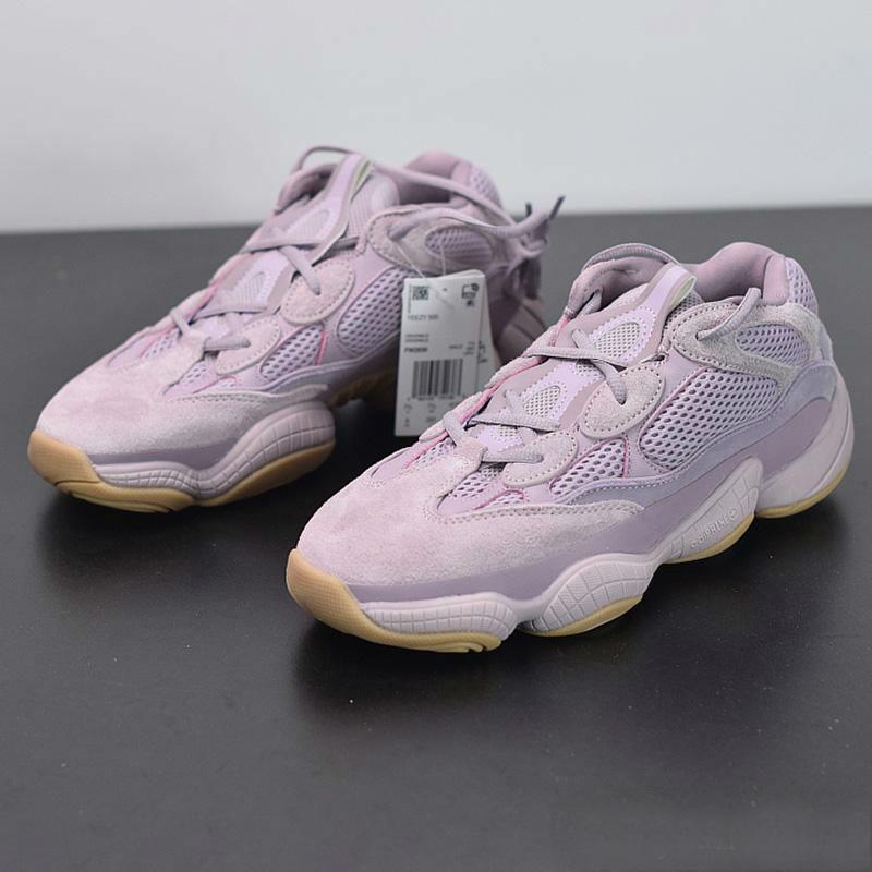 Dalga Runner 500 Yumuşak Vision Mor Ayakkabı Kanye West Dalga Runner Tasarımcı Erkek Kadın Sneaker Spor Ayakkabı Koşu
