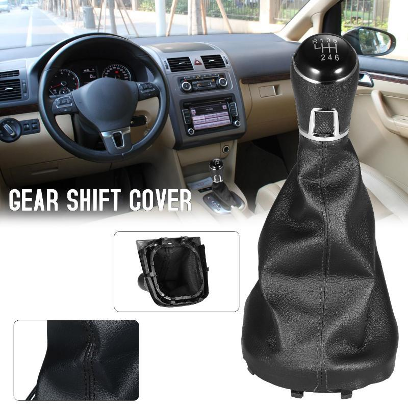 pack-1 6 Speed Gear Shift Knob Gaiter Boot Cover FOR VW TOURAN NEW