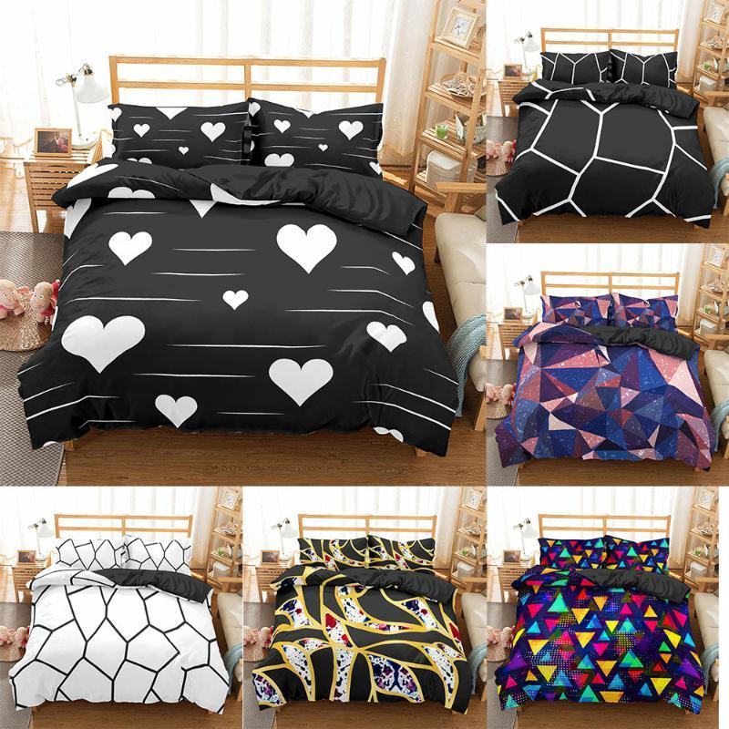 Homesky Geometric Bedding Set Marble Pattern Duvet Cover Quilt Cover Pillowcase Comforter Bedding Sets Bed Linen