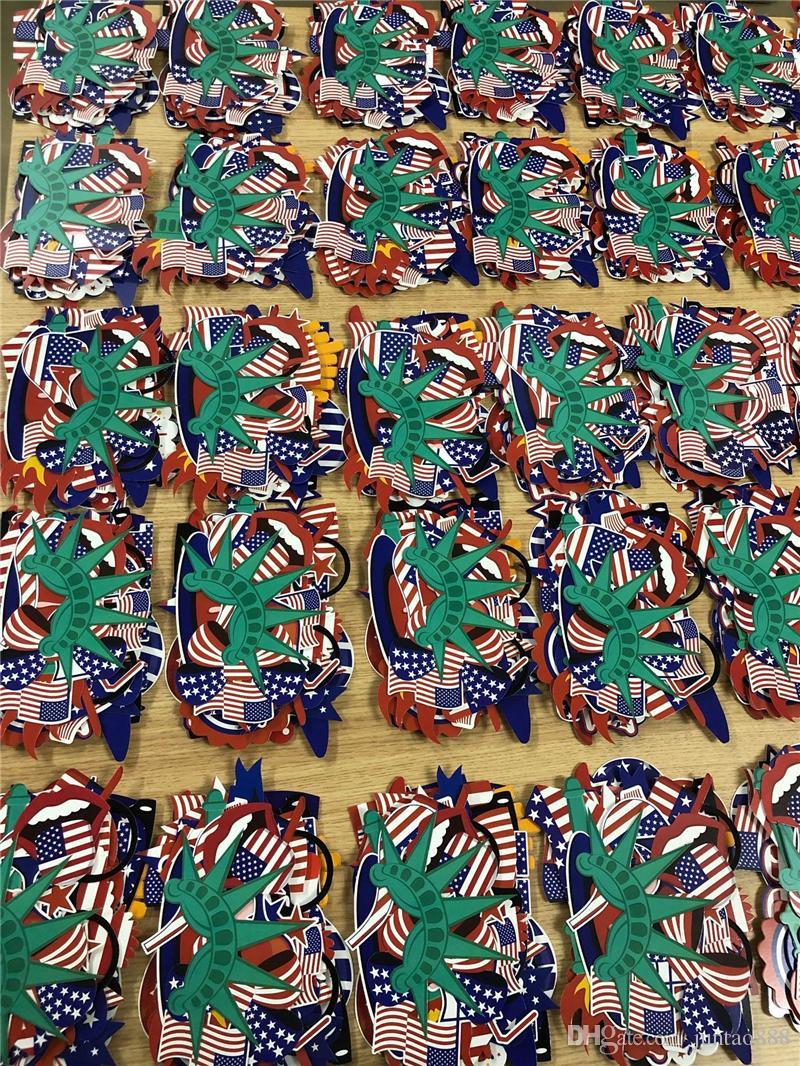 Temmuz Kutlama Kırmızı Beyaz Mavi Banner Flags 2019 Bağımsızlık Günü Fotoğraf Dikmeler Parti dekorasyon Amerikan 4