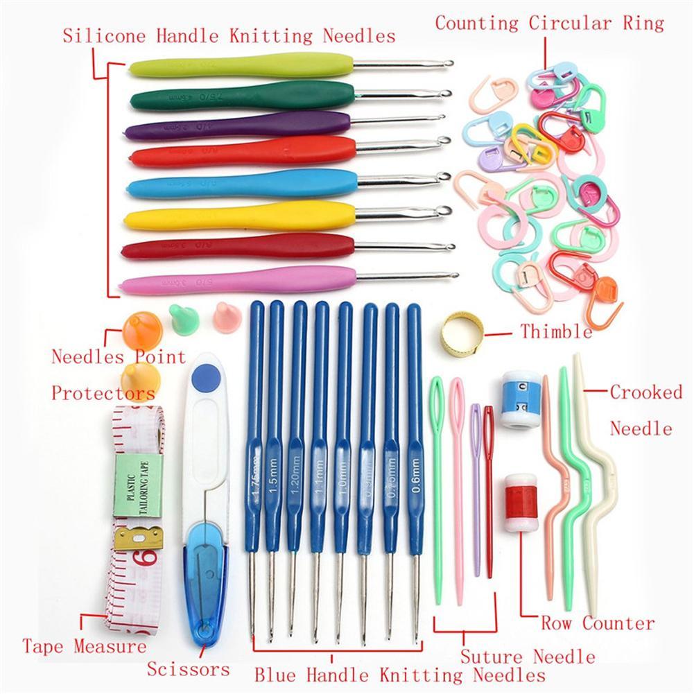 Home Use Sewing Tool Set 16 Sizes Crochet Hooks Needles Stitches Knitting Craft Case Crochet Set Case Crochet Set With Case