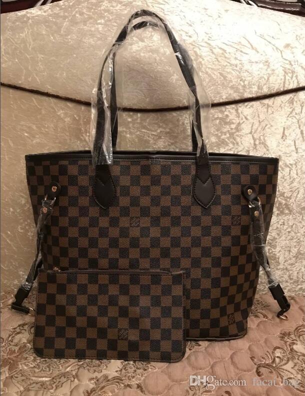 2Pcs / Set haute qulity épaule fourre-tout classique dames de fleur sacs à main pour femmes composites PU embrayage en cuir sacs à main de luxe bagsdesigner bourses A5