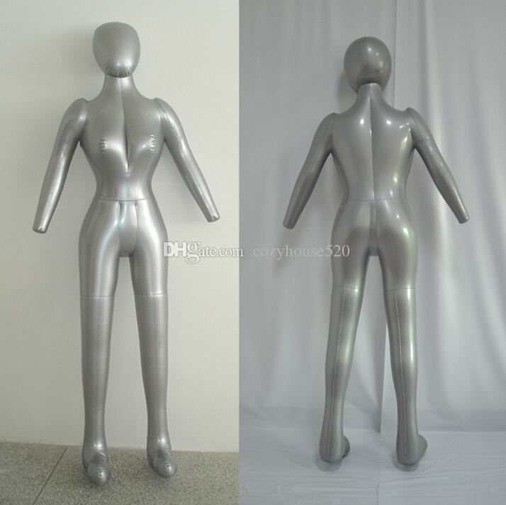 New Fashion sexy clothes Inflatable mannequin Full Body Female Model with Arm Ladies cloth xiaitextiles Window doll Display Props,M00358