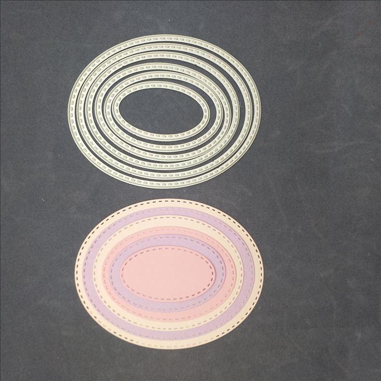 Tagli Ovali Die Tag Craft Muore Fiori Scrapbooking Natale Cartella Goffratura Cartelle Suit Per Metal Cutting Machine 11 * 9 cm