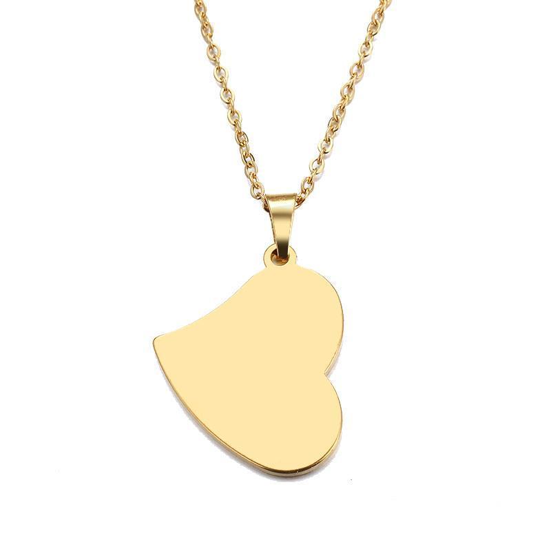 Heißer Verkaufs-Edelstahl-Halskette für Frauen-Mann-Liebhaber Real Herz Gold und Silber Farbe Anhänger Halskette Verpflichtungs-Schmucksachen Frauen