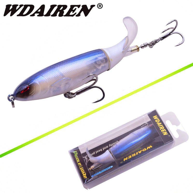 Esca da pesca in acqua 10cm 13,5 g Whopper Popper Esca artificiale Plopper duro Coda rotante morbida Attrezzatura da pesca Geer