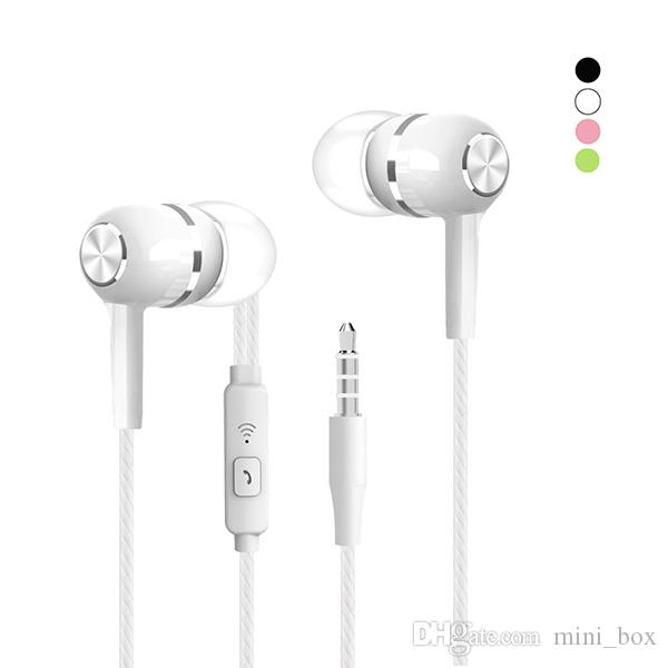 3 5mm In Ear Stereo Earphones Noise Cancelling Headphones With Microphone For Iphone 6 6s Plus Samsung S8 S9 S10 Smartphone Cell Phone Wireless Headset Headset For Phones From Mini Box 0 65 Dhgate Com