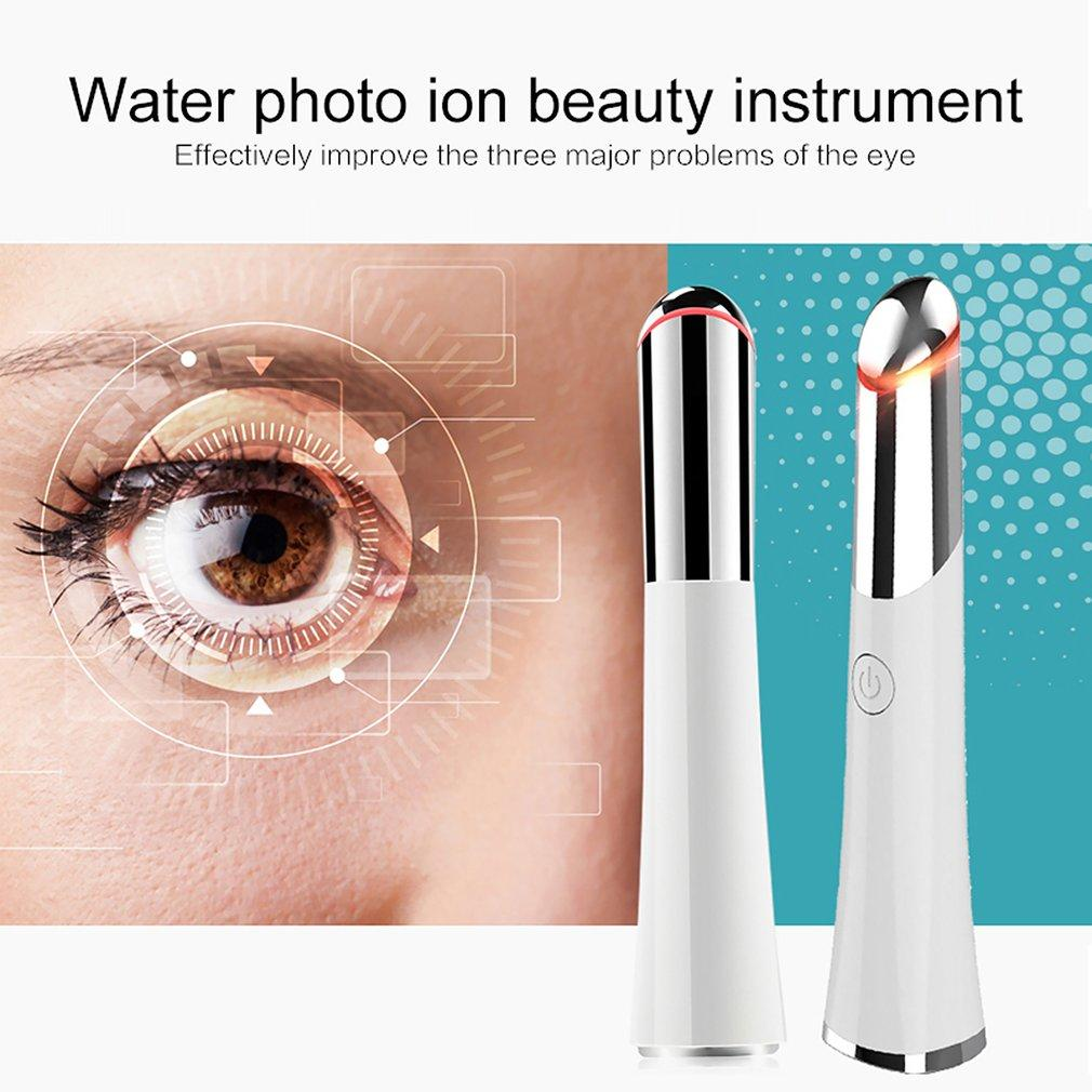 Beauty Electric Heated Sonic Eye Massager Wand Rechargeable Face Massager Roller Wand Eliminating Wrink Eye Care Machine