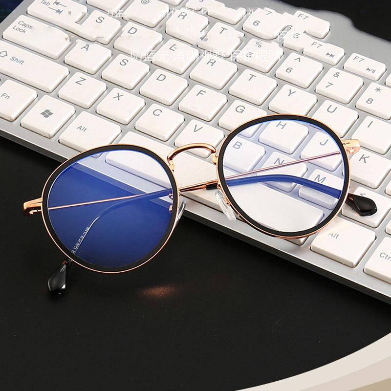 Anti Blue Light Goggle Blocking Glasses Round Alloy For Computer Protection Women Men Vintage Retro Classic Sun Glasses MX200527