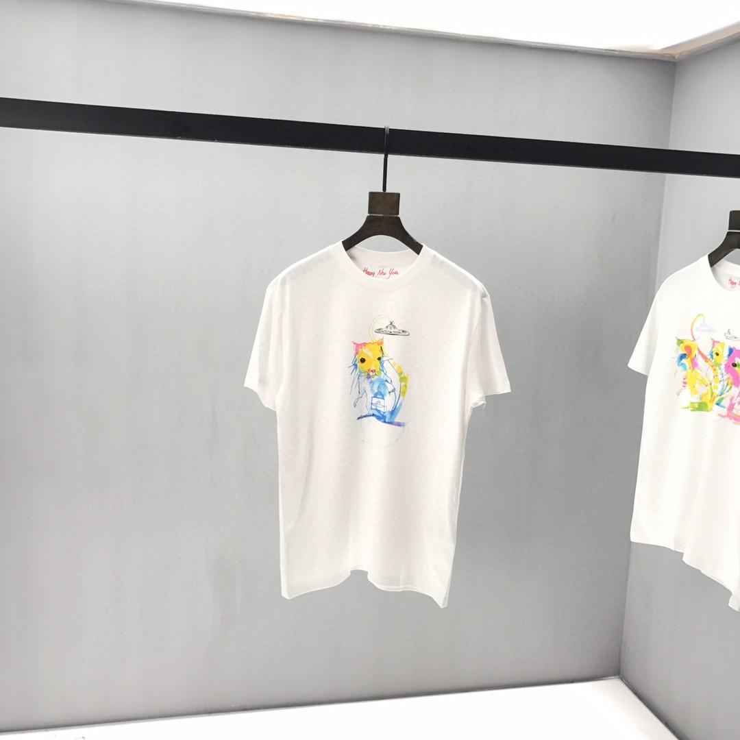 20ss Itália Tee primavera e verão nova alta moda de impressão em cadeia dos homens de colarinho e T-shirt do polo de alta qualidade camisa de algodão das mulheres -592