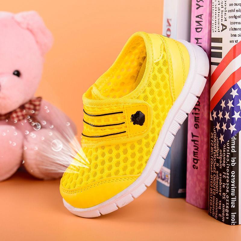 Children Mesh Casual Shoes Boy Sneakers Kids Banner Sport Footwear Kids Shoes for Girl Light Cute Pink Flat Free
