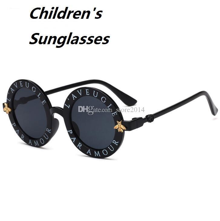 New Luxury Designer Sonnenbrillen Für Kinder Mode Runde Sommer Stil Mädchen Jungen Sonnenbrillen Kinder Strand Liefert UV Schutzbrillen