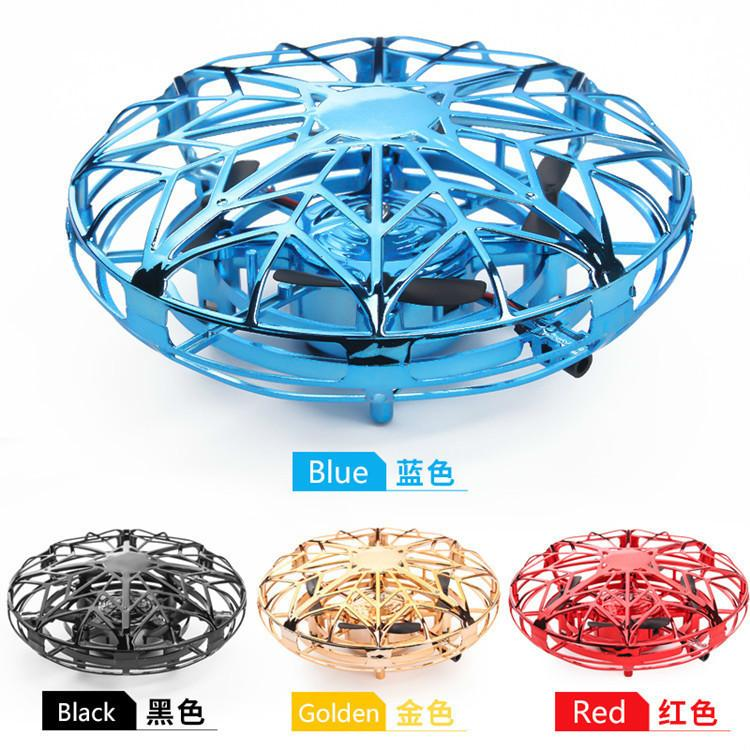 Induction drone toy children's flying machine portable 360 ° rotating UFO flying saucer Christmas suspension flying toy gift interaction