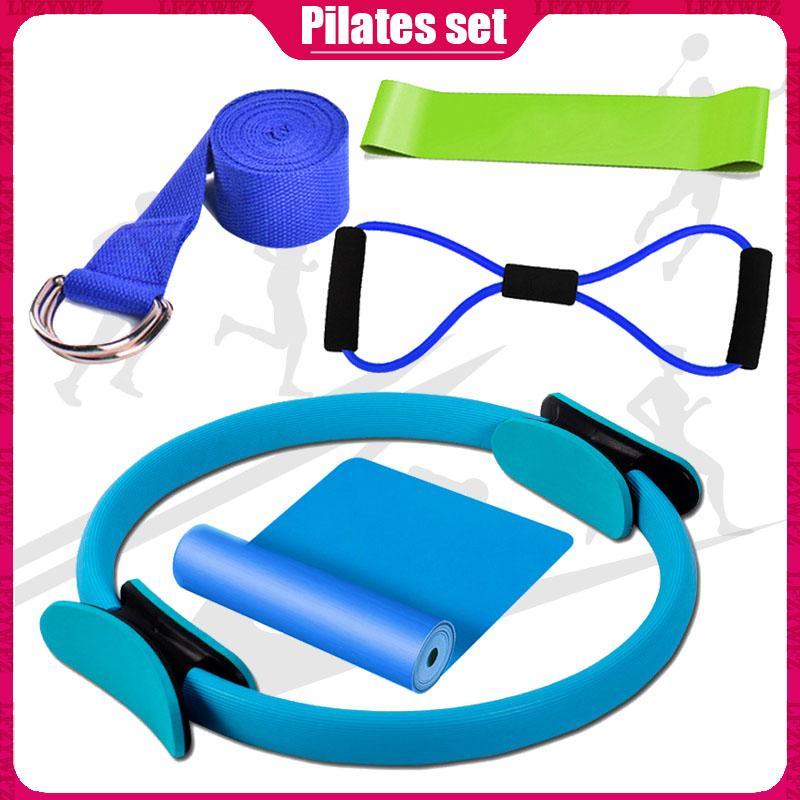 Pilates 5 piezas de la relajación fijado Ladies Home Training Pilates Body tensión de estiramiento anillo de cinco piezas de equipo casero de la aptitud