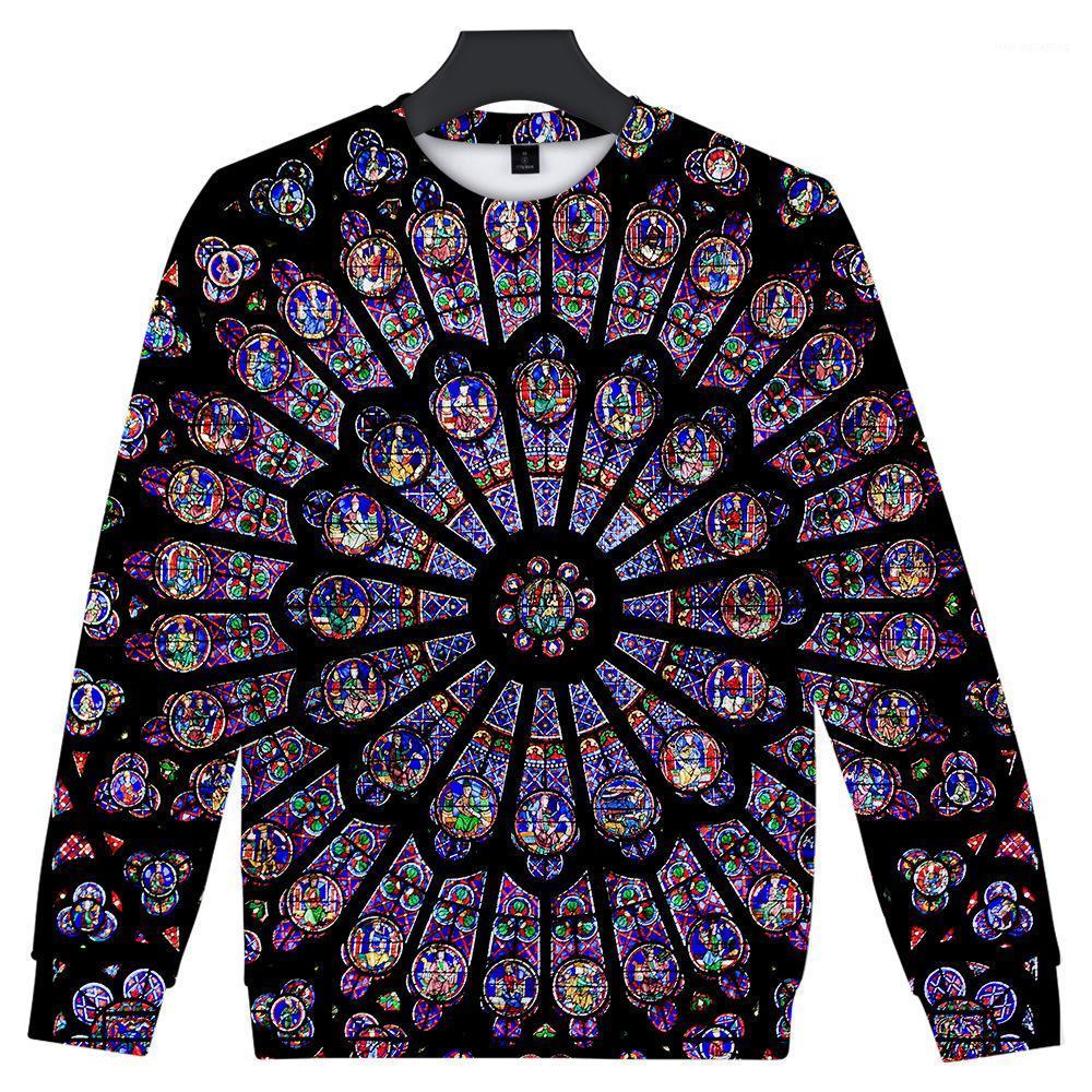 Hoodies Notre Dame de Paris O-neck Pullovers Long Sleeds Sweights Mens 3D Designer