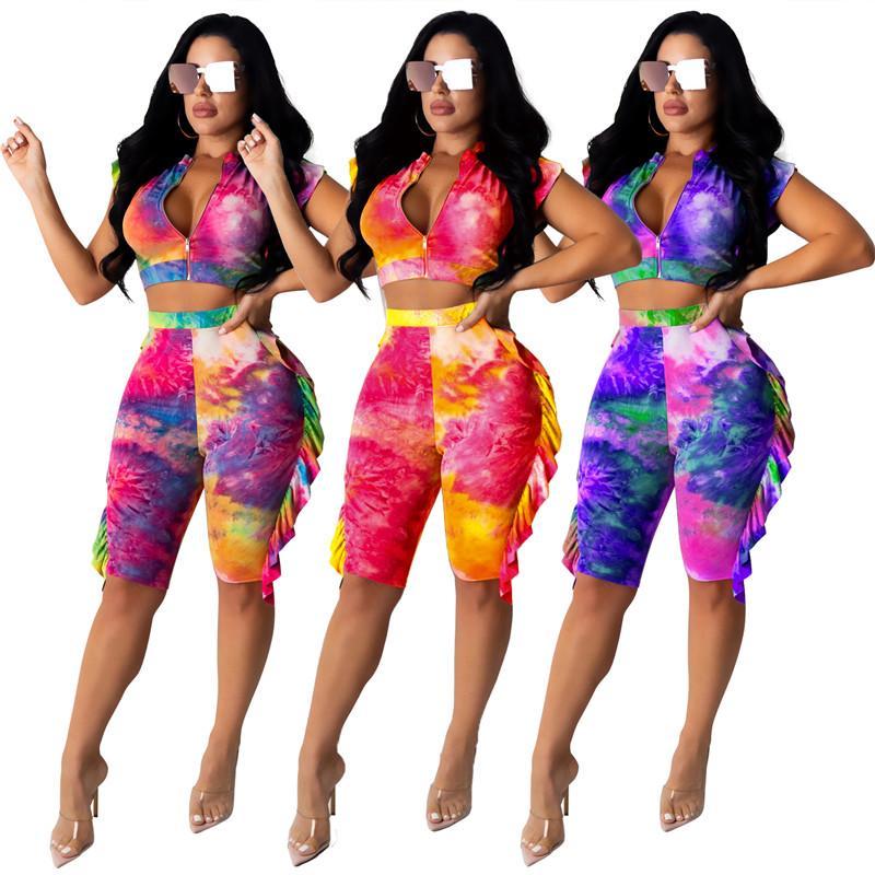 Frauen zweiteiliger Satz Trainingsjacke Shorts kurze Ärmel Sportkleidung Hemdhose sweatsuit Pullover Strumpfhose Sportbekleidung heiß klw4228 Outfits