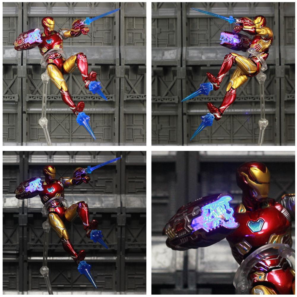 """Marvel LED Avengers 4 Endgame Iron Man MK85 6/"""" Repainted Custom Action Figure"""