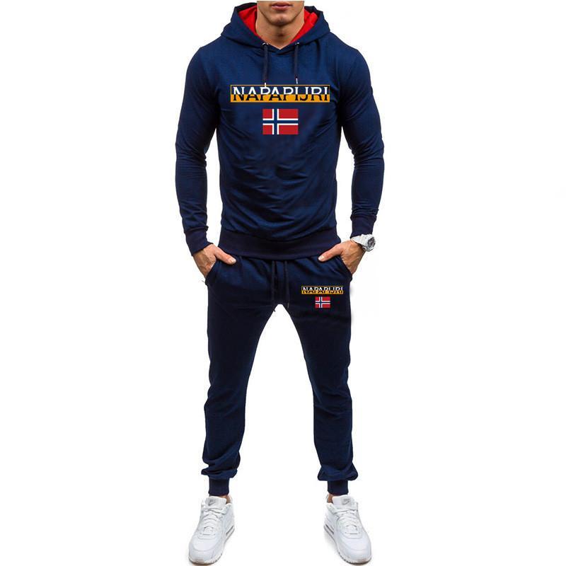 новый мужской карман с длинным рукавом уличная одежда мышцы толстовки+брюки набор мужской спортивный костюм спортивный костюм мужские тренажерные залы набор повседневная спортивная одежда костюм