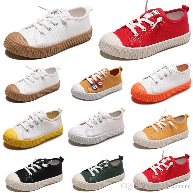 Scarpe a buon mercato non-Brand pigro per bambini scivolare su scarpe di tela della ragazza del ragazzo bambino bambini scarpe casual moda delle scarpe da tennis 20-31 Style 1