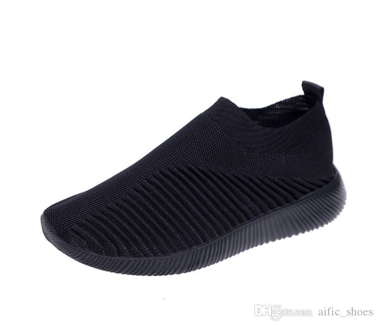 المرأة مصمم متماسكة جورب الأحذية المدرب الثلاثي الأسود الأزياء الجوارب رياضة المدرب عارضة الأحذية 35-43