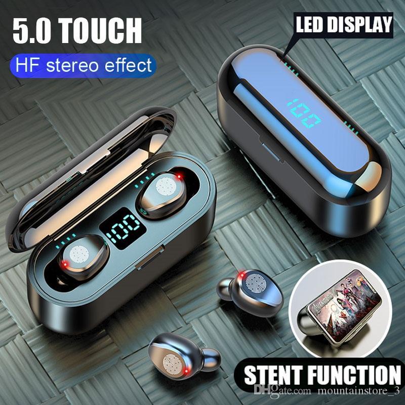 Новые Bluetooth V5.0 наушники Беспроводные наушники стерео Спортивные беспроводные наушники наушники гарнитуры 2000 мАч Питание для iPhone Xiaomi (Розница)