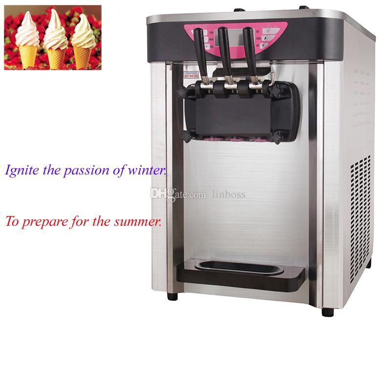 Direkt ab Werk liefert Eiscreme-Maschine hochwertige Softeis-Maschine drei Aromen kalter Getränk Maschine