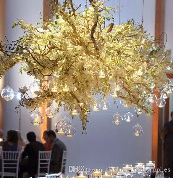 4cm/14cm )new style clear crystal hangging ball background wedding hall decoration senyu0106