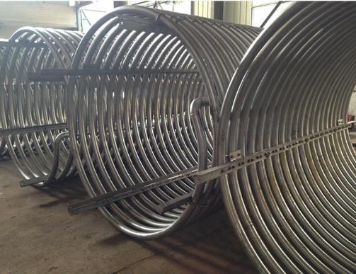 Bobina de tubo de titanio para acuario / intercambiador de calor de bobina de titanio para equipo químico precio barato tubo de bobina de condensador de titanio sin costura