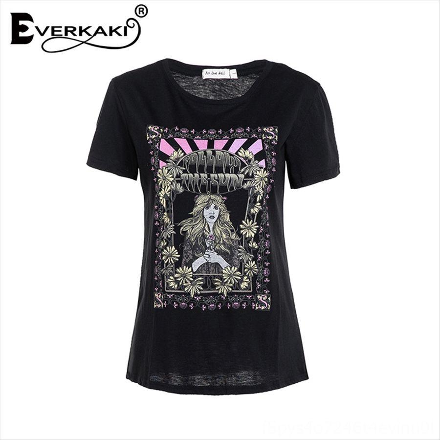 Calidad impreso femenina PB8C118A calidad imprimió la camiseta camiseta top top PB8C118A femenina