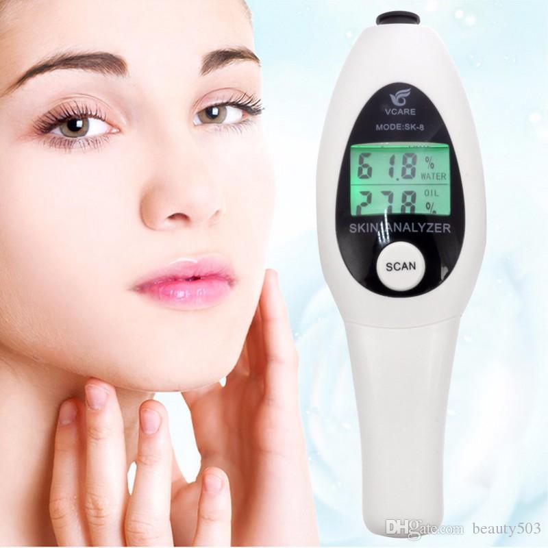 الدقة الجلد العرض LCD محلل الرقمية الوجه الجلد الجسم تستر النفط الرطوبة تحليل متر أداة العناية بالوجه