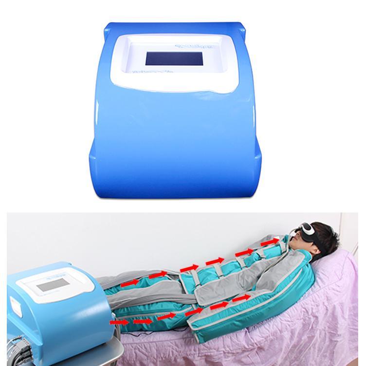 ضغط الهواء pressotherapy آلة التصريف اللمفاوي مع 24 أكياس الهواء للجسم كله التدليك CE / DHL
