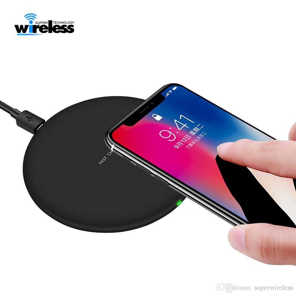 Per qi-enable smartphones caricatore senza fili veloce rapida Qi Caricabatteria per pad S9 S10 caricabatterie wireless di ricarica