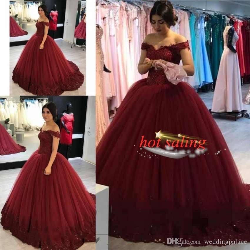 Omuz Quinceanera Modelleri Balo Capped Kollu Prenses Suudi Ucuz Kaliteli Custom Made Gelin Kapalı Şık
