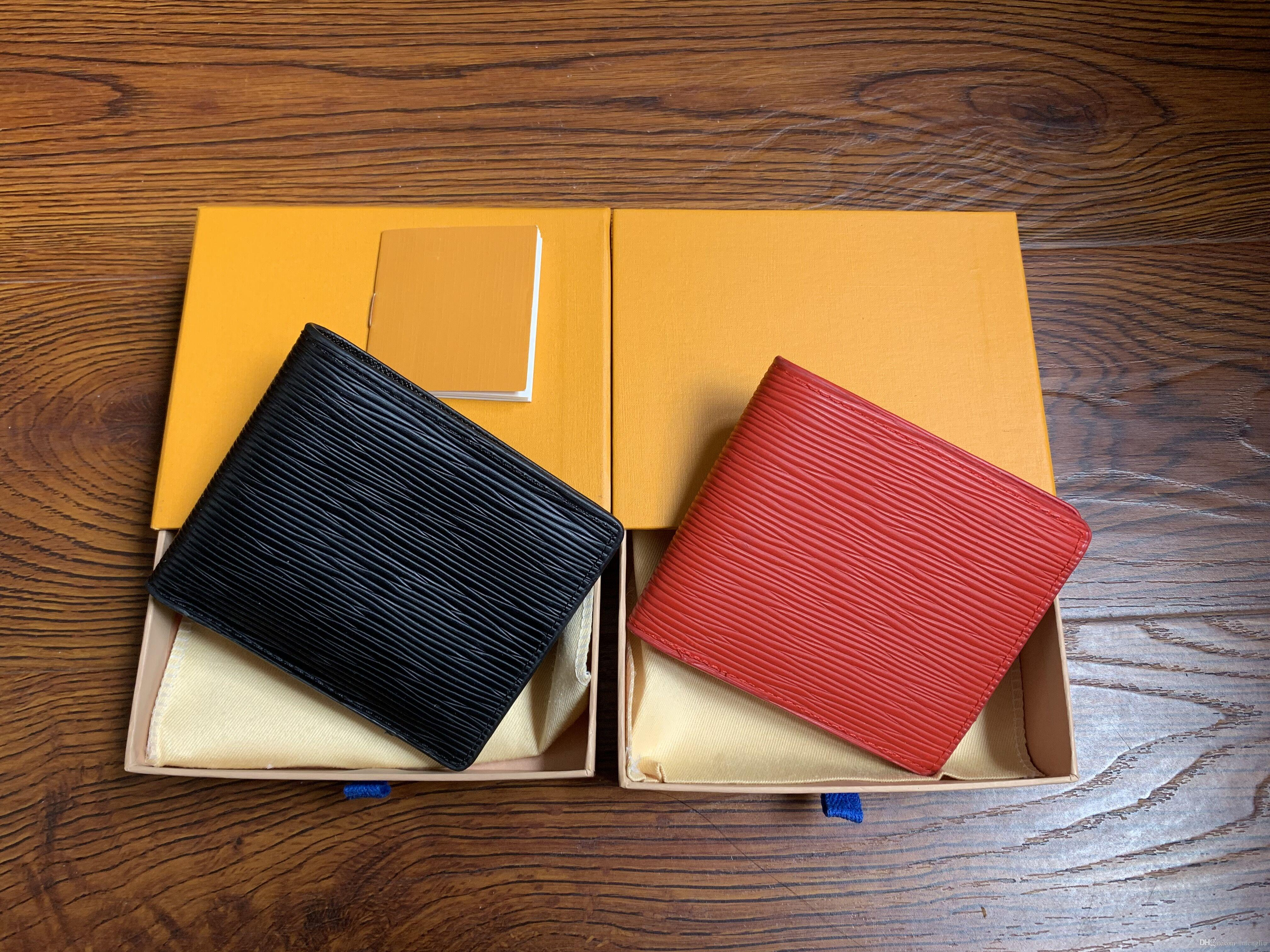 2017 yeni en kaliteli erkek deri marka klasik lüks cüzdan gündelik kısa paragraf tasarımcı kart sahibi cebi moda cüzdan erkekler 60985