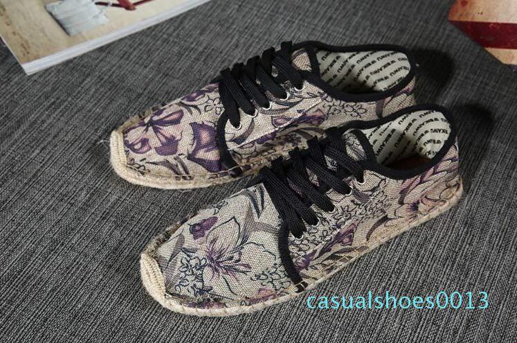 2019 Nouveau free style chaussures chaussures de toile d'expédition des femmes et des hommes mode mocassins chaussures plates femmes espadrille chaussures de sport taille 36-45 c13