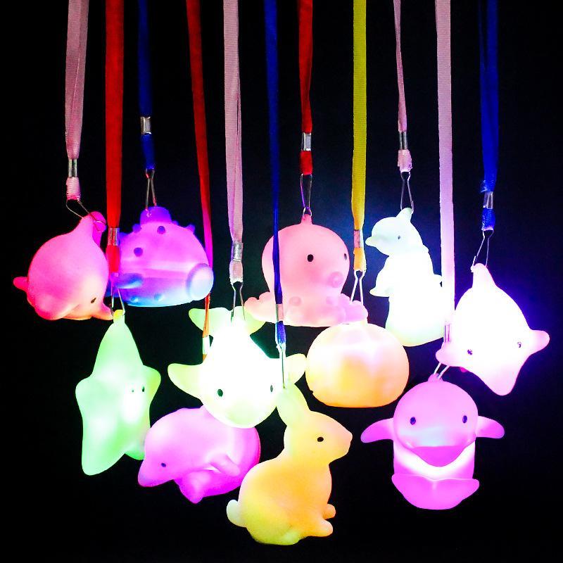 Presentes Night Light Com Corda Doirado noite Lamp Coelho festiva lanterna Coelho Colorido Lanterna Kid Quarto Decoração Luzes do partido