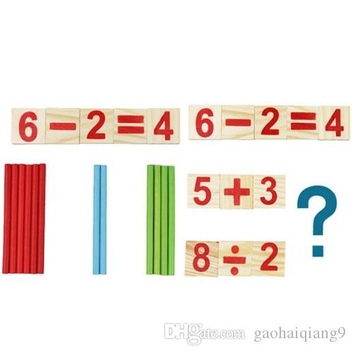 مونتيسوري الأطفال لغز خشبي تعول رياض الأطفال الرياضيات الوسائل التعليمية طفل التعليم المبكر الرياضيات اللعب عصا الرقمي