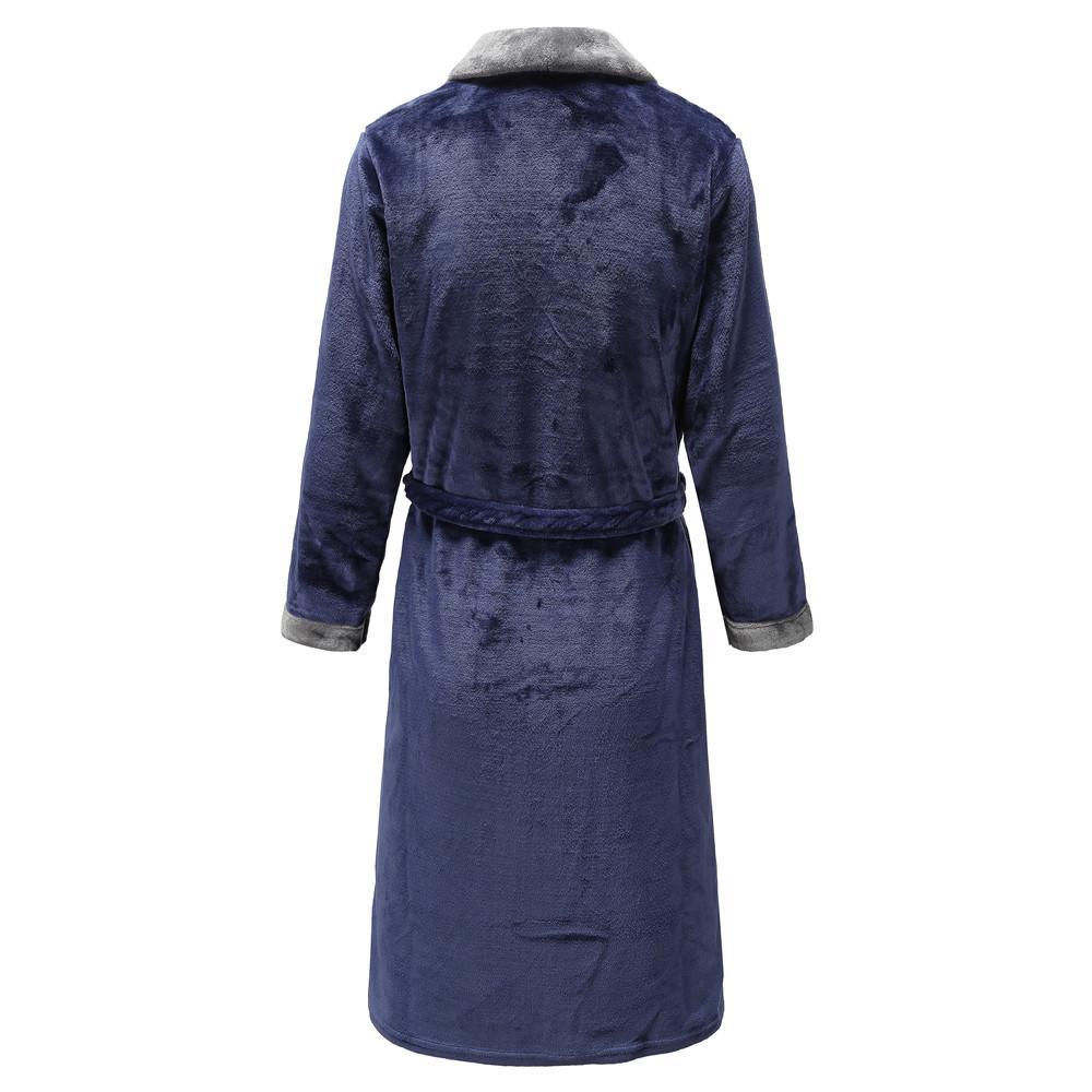 Épaissir nuit Sweetcouple molleton intime Lingerie Kimono Peignoir Robe pleine manches Accueil Robe de chambre Négligée