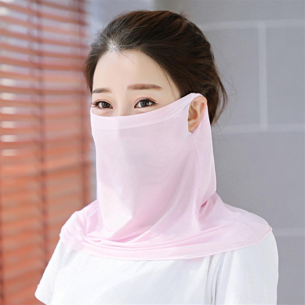 L6b6U yeni peçe Eşarp Yüz Eşarp Açık Kadınlar Windproof Yarım Yüz Toz geçirmez Güneşlik Maskeleri Toz Maskesi Kulak tipi Parti Maskeler Maske
