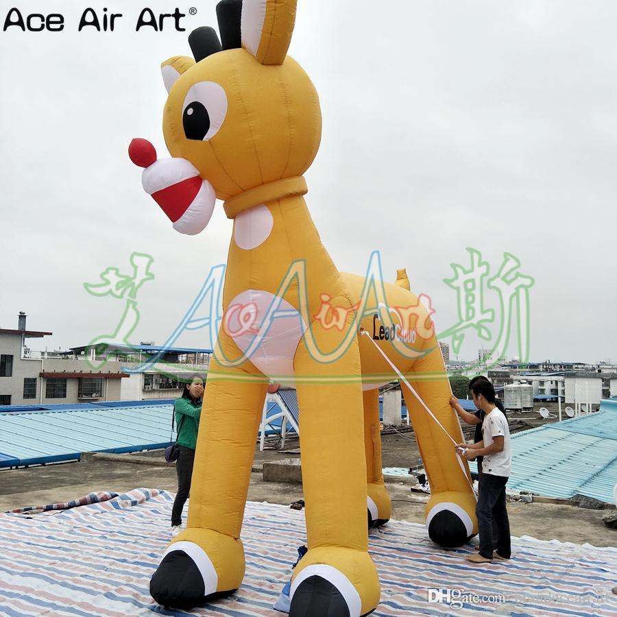 Nuovo stile libero logo di Natale animale mascotte renne gonfiabile, in piedi cervi di Natale con 4 gambe per New year decoration