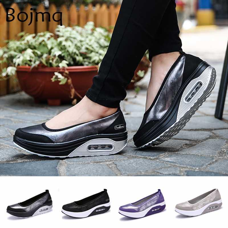Tenis Feminino Women's Tennis Shoes Chaussures Tenis 2020 New Sneakers Woman Breathable Mesh Slip-On Wedges Heels Sneakers Shoes