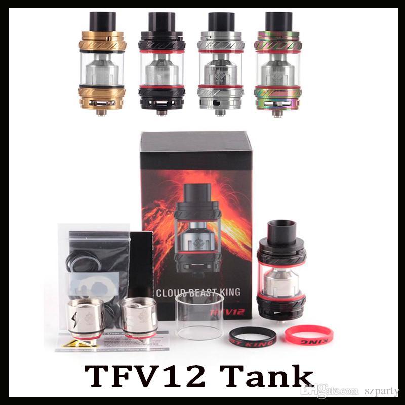 Tanque TFV12 6 ml Top Controle de Fluxo de Ar De Enchimento Besta Rei Atomizador Para 510 Caixa De Rosca Mod Frete Grátis DHL Livre 0266118