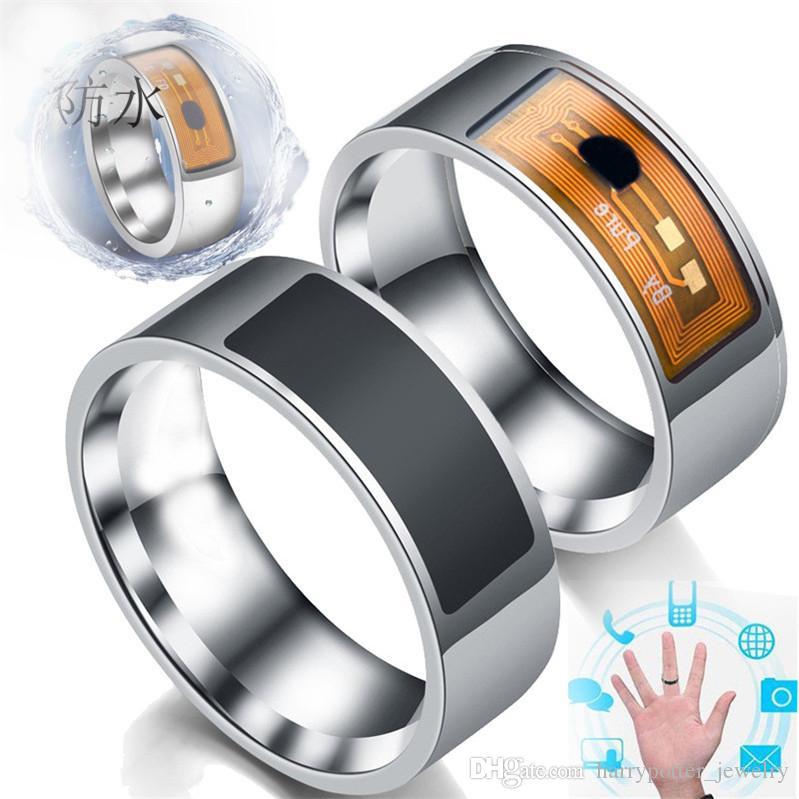 Acessórios inteligentes inteligentes Anéis NFC Multifunctional inteligente Anel inteligente Wear dedo anéis de aço Digital Anel inoxidável cair o navio