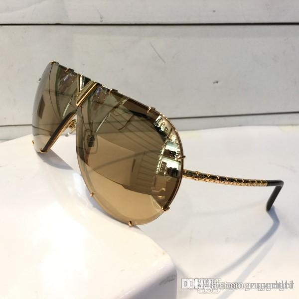 Lüks Z0891E Erkekler Kadınlar Güneş UV Koruma Mercek 0891 Moda Oval Kaplama Ayna Objektif Çerçevesiz Rengi Kaplama Çerçeve Paketi ile gel